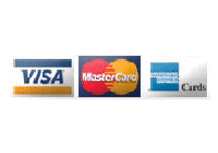 We accept VISA, Mastercard and American Express cards for payments.