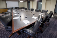 Comfortable on-site conference room available for pre-scheduled meetings & tours in some lower security locations.  Check first for availability.